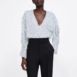 Zara fringed blouse
